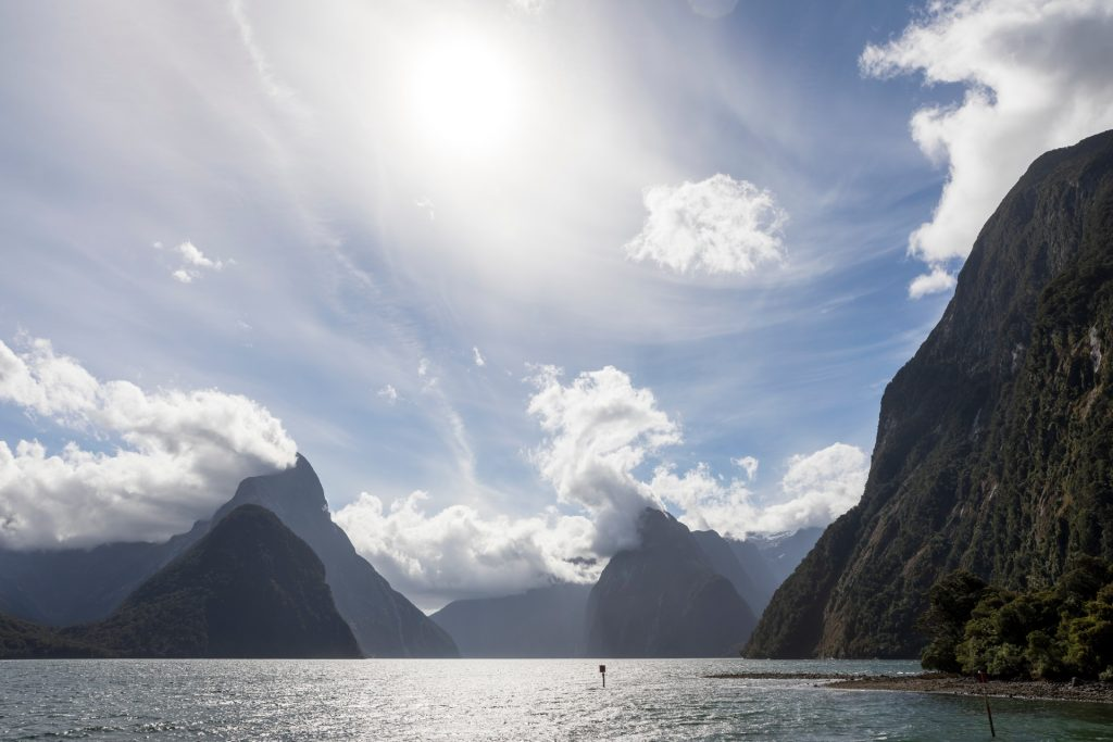 Driving Milford Sound, Fiordland New Zealand